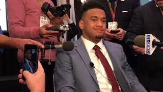 Tua Tagovailoa talks Heisman Trophy ride