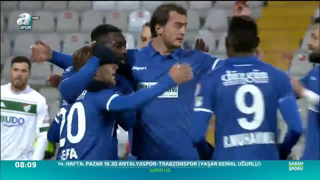 BŞB Erzurumspor 4 - 2 Bursaspor MAÇ ÖZETİ (Ziraat Türkiye Kupası 5. Tur İlk Maçı) / A Spor