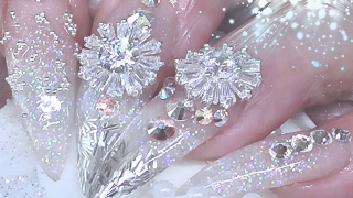 ICE QUEEN ( acrylic nails )
