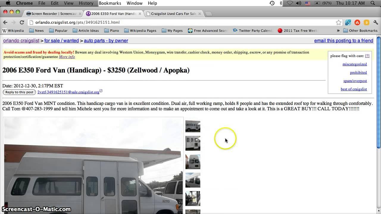Craigslist Handicap Vans For Sale By Owner In Florida