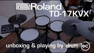 Roland TD-17 KVX electronic drums unboxing & playing by drum-tec