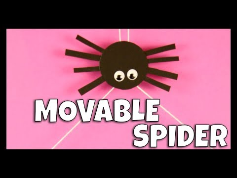 Movable Spider Craft for Kids - fun Halloween craft idea