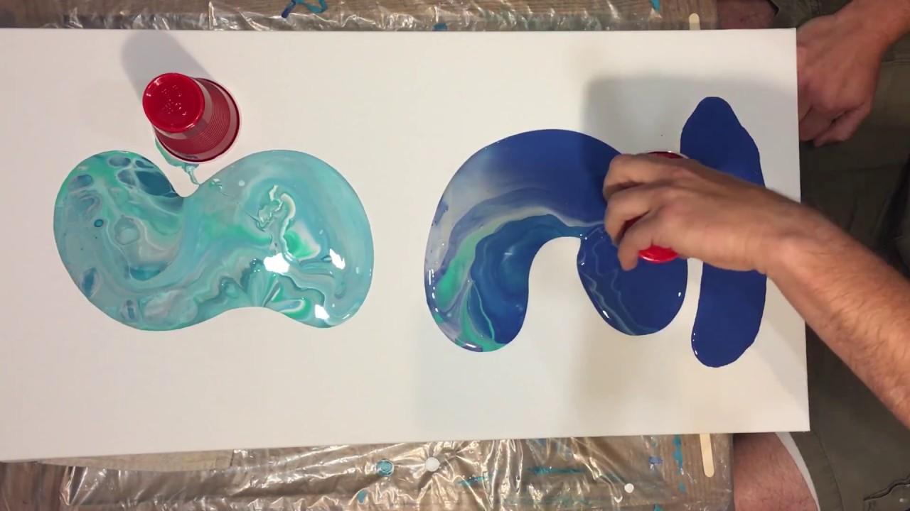 How to make fluid art ocean floor scene with acrylic paint for Another word for ocean floor