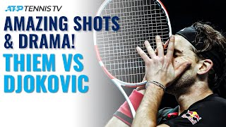 Dominic Thiem vs Novak Djokovic: Amazing Shots & Drama | Nitto ATP Finals 2020 Highlights