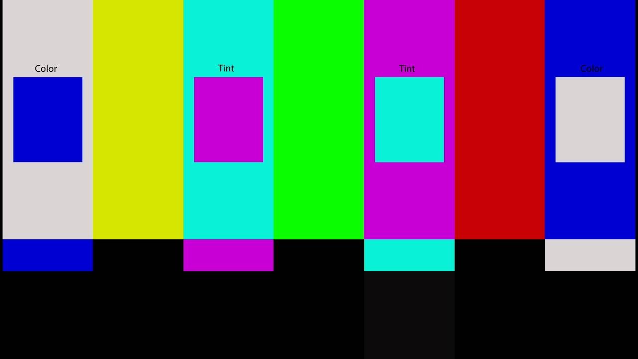 Ajuste De Color Y Tinte Con El Patr U00f3n  U0026quot Flashing Color Bars U0026quot