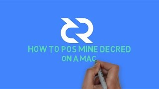Beginners Guide: How to PoS mine Decred on a Mac using dcrwallet (via Stake Pool)