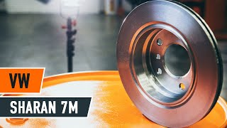 Vymeniť Brzdové doštičky VW SHARAN: dielenská príručka