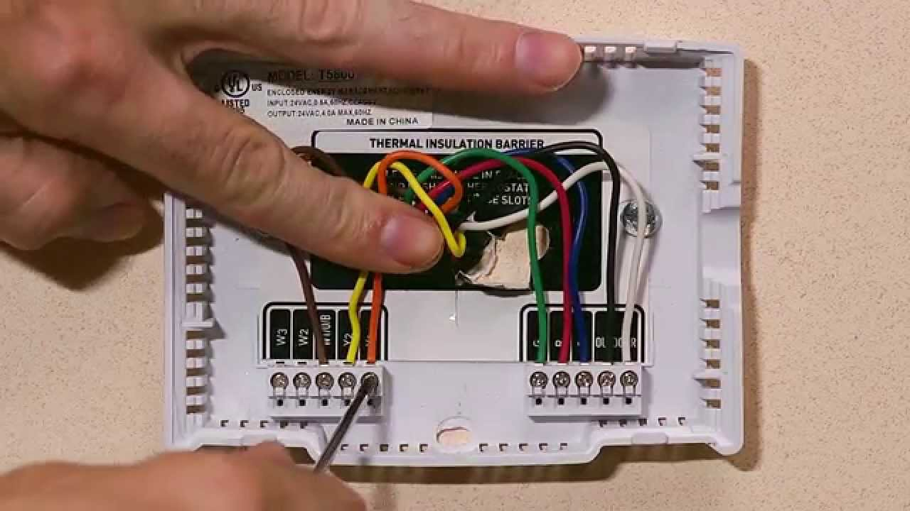 How To Wire A Thermostat Thermostat Wiring Diagram