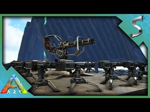 THE WYVERN DEFENCE BOAT! ALPHA WYVERN KILL WITH MINIGUN! - Ark: Survival Evolved [S4E45]