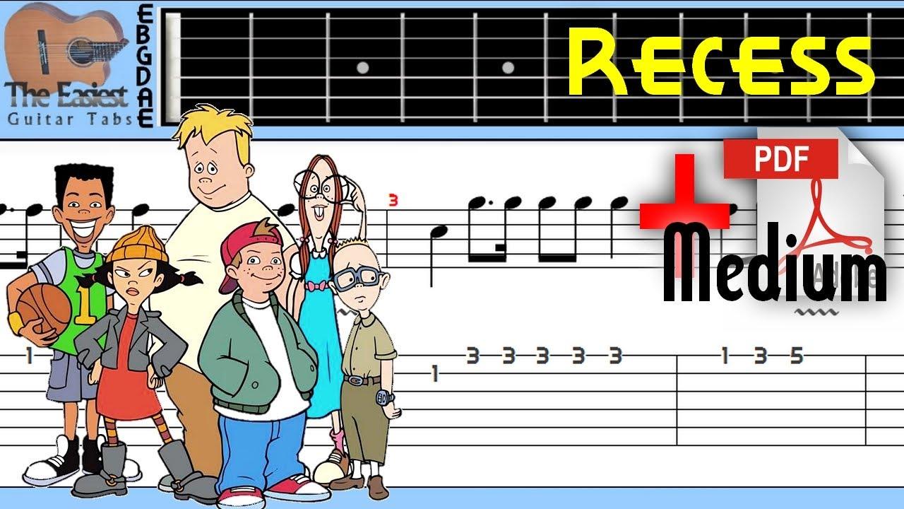 The Easiest Guitar Tabs: Recess - Theme Song (Medium)