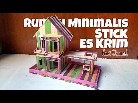 Cara Membuat Miniatur Rumah Minimalis Dari Stick Es Krim