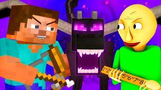 Балди Vs Школа Монстров 3: Эндер Дракон (Финал Minecraft Майнкрафт Мобы 3D Анимация Челлендж)