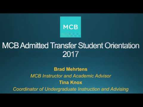 MCB Admitted Transfer Student Orientation 2017