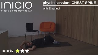 physio session: CHEST SPINE