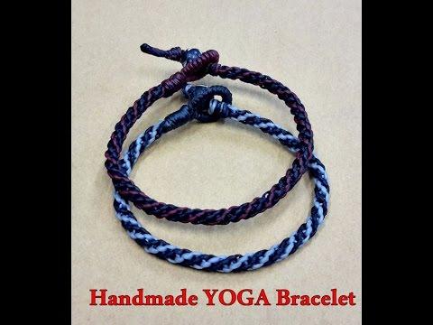 การทำสร้อยข้อมือเชือกทักแบบเท่ห์ๆ จากเชือกเทียน How to make knot bracelet ep1