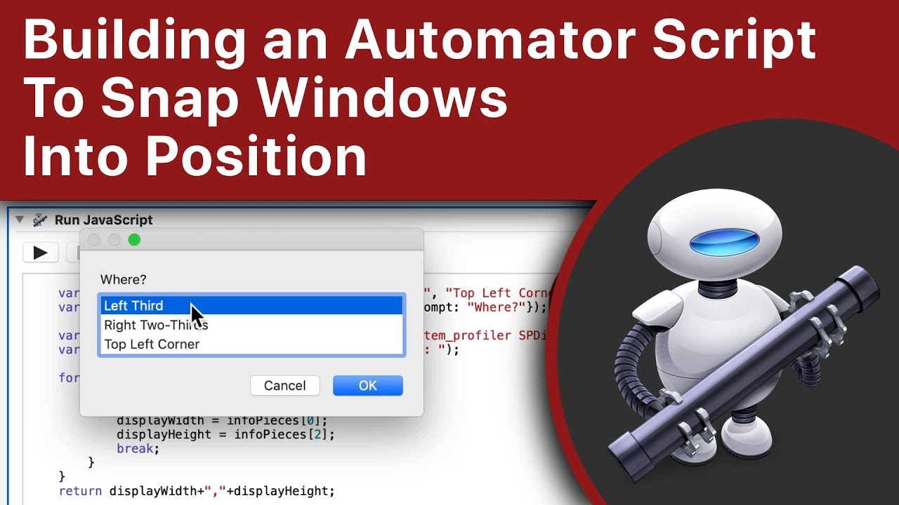 Building an Automator Script To Snap Windows Into Position (MacMost #1959)