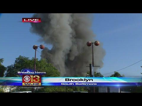 Massive Warehouse Fire In South Baltimore