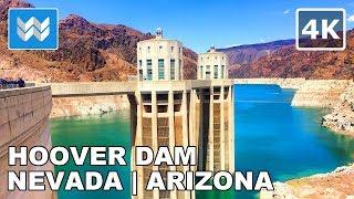 Walking Tour of Hoover Dam & Bypass Bridge in Nevada - Arizona, USA 2019 | Las Vegas 🎧 【4K】