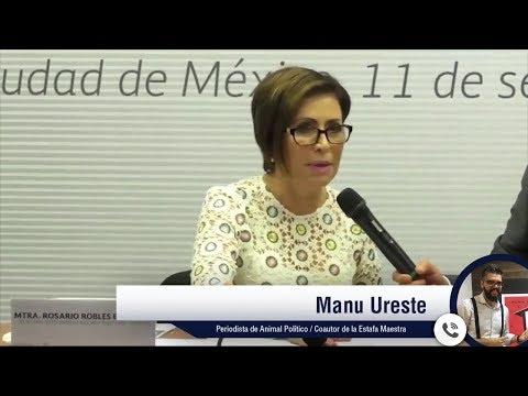 Rosario Robles la primera funcionaria que comparecerá por la Estafa Maestra: Animal Político