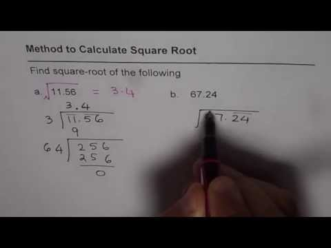 How to Calculate Square Root of Decimal Numbers Without Calculator