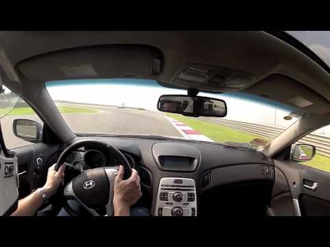 Shanghai F1 track onboard cam - Hyundai Genesis Coupe 2.0T - 19T turbo upgrade - Go Pro (2/3)