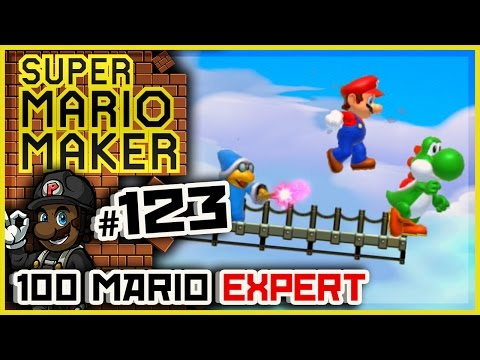 "Super Mario Maker - 100 Mario Expert Courses #123 (Expert) w/ PKSparkxx | ""RISK IT ALL FOR YOSHI!"""