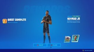 How To Unlock The Neymar Jr. Skin In Fortnite! (How To Do ALL The Neymar Jr. Challenges!)