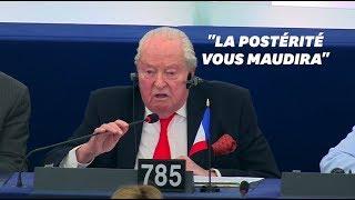 Les derniers mots de Le Pen au Parlement europeen