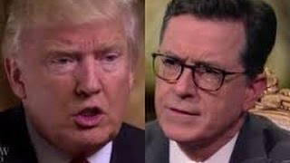 TRUMP DISHES OUT HUMBLE PIE TO COLBERT!!