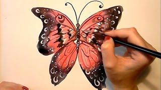 Как нарисовать бабочку(Узнайте, как новичку научиться рисовать карандашом и красками: http://lessons-free.ru/paintdvd Новый урок по рисованию..., 2015-10-26T16:00:04.000Z)