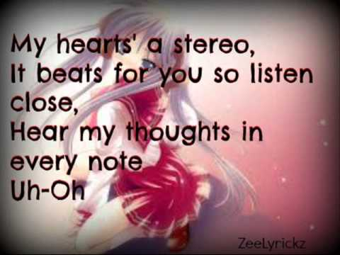 Stereo Heart [Female Version] ;Lyrics