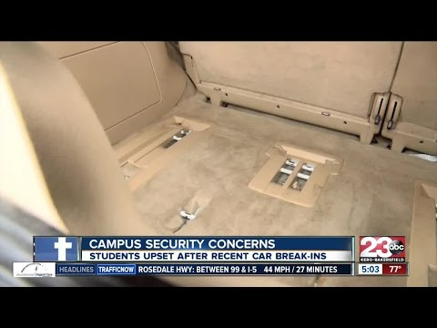 A Bakersfield College student's car was broken into in broad daylight on campus