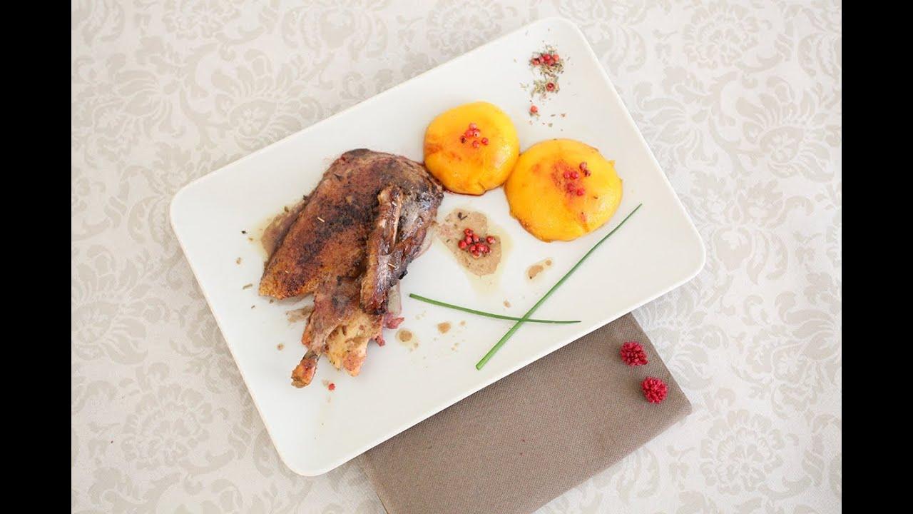 Recette du canard aux p ches la cuisine de monica youtube for La cuisine de monica
