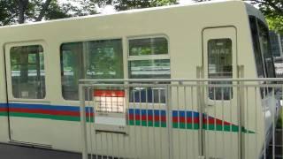西武8500系レオライナーV2編成 西武球場前発車