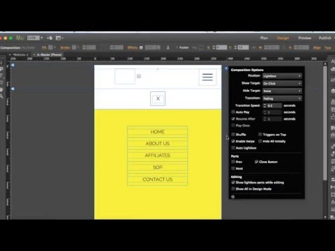 Adobe Muse Tutorial -  How to Create Menu for  Mobile website