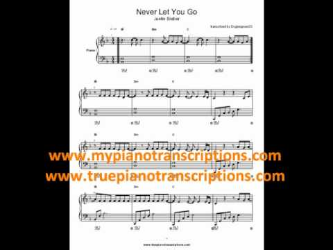 Never Let You Go by Justin Bieber