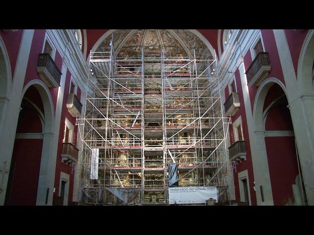 Restauració del retaule major del Santuari del Miracle (juny 2020)