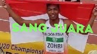 Detik detik Muhammad Zohri !!! Atlet lari indonesia menang