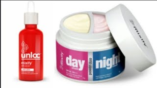 Unloc Glow Serum & Unloc Day & Night Cream Review+demo #Mixify#Serum#day and night cream