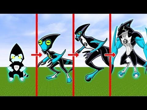 CICLO DE VIDA DO XLR8 ALIEN BEN 10 l E SE FOSSE REAL? - MINECRAFT