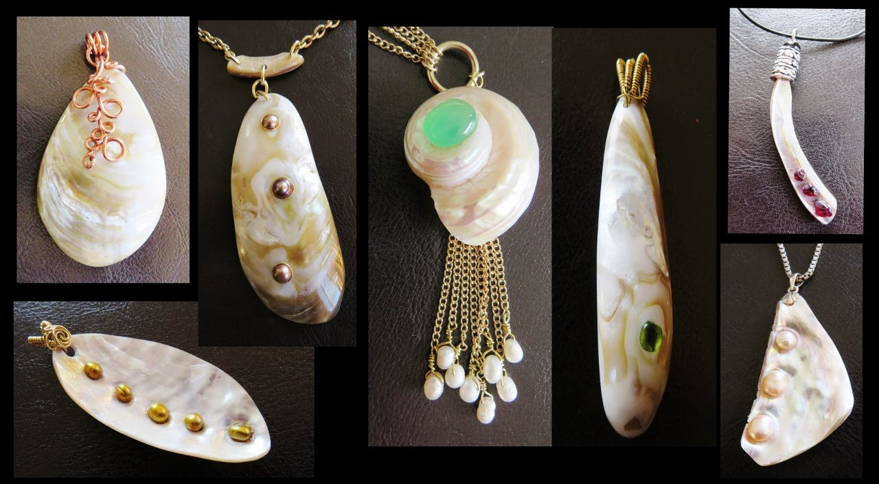 Make Jewelry Using Sea Shells And Gemstones Youtube