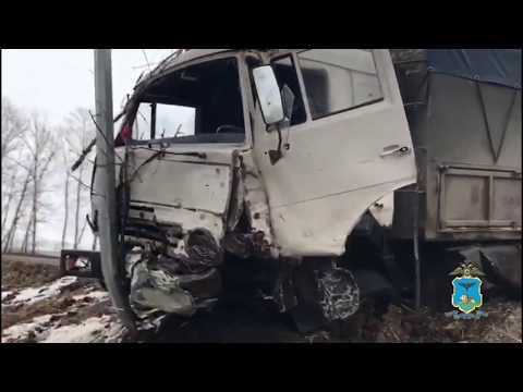 В Белгородской области KIA Optima столкнулся с КамАЗом