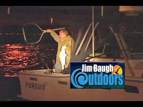 Night Fishing For Rockfish Hampton Roads Bridge Tunnel Jim Baugh Outdoors TV