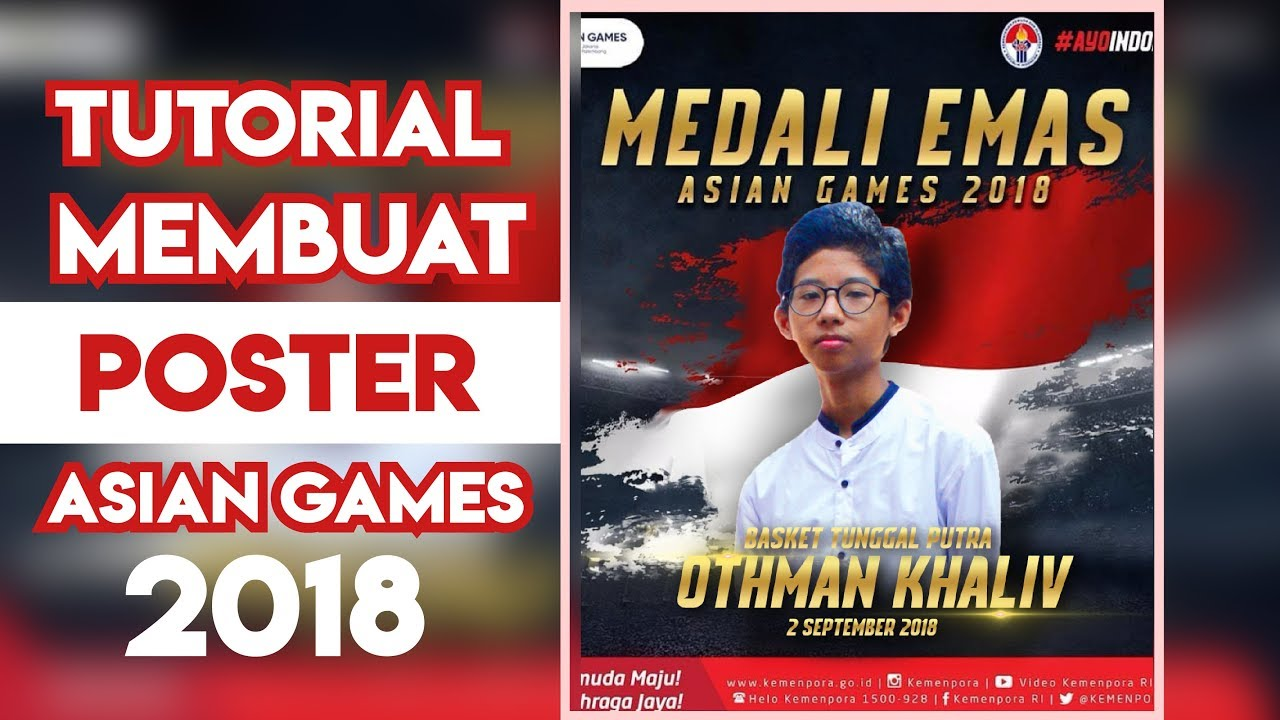 Tutorial Cara Membuat Custom Poster Asian Games 2018 ...