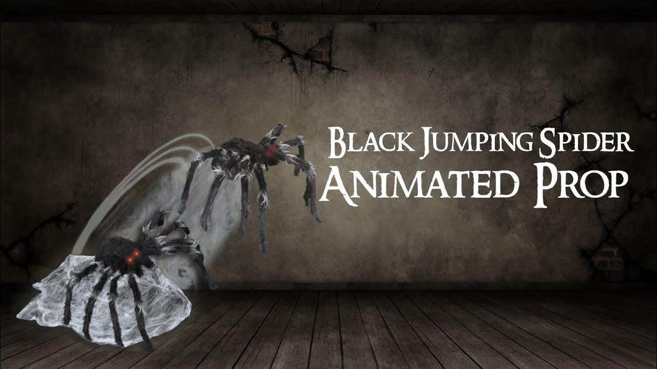 21 Inch Black Jumping Spider Animatronics - Decorations ...