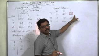 Assignment Problem - 3 Hungarian Assignment Method - HAM - 1 thumbnail