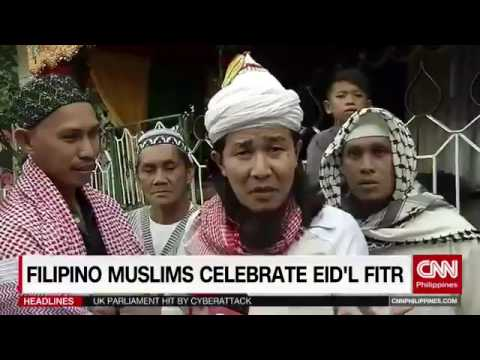 Filipino Muslims celebrate Eid'l Fitr