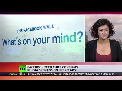 Russia Spending On Brexit Ads... $1, Facebook's Tech Chief Confirms