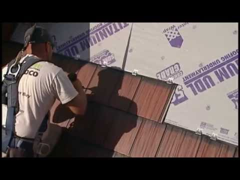"""""""How to Install Metal Roof Shingles P1"""" - by EDCO Roofing Products"""