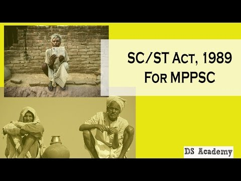 scst act 1989 for MPPSC